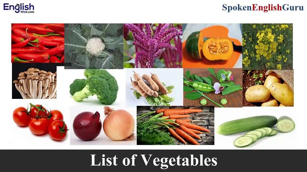 Vegetable Names in English in Hindi