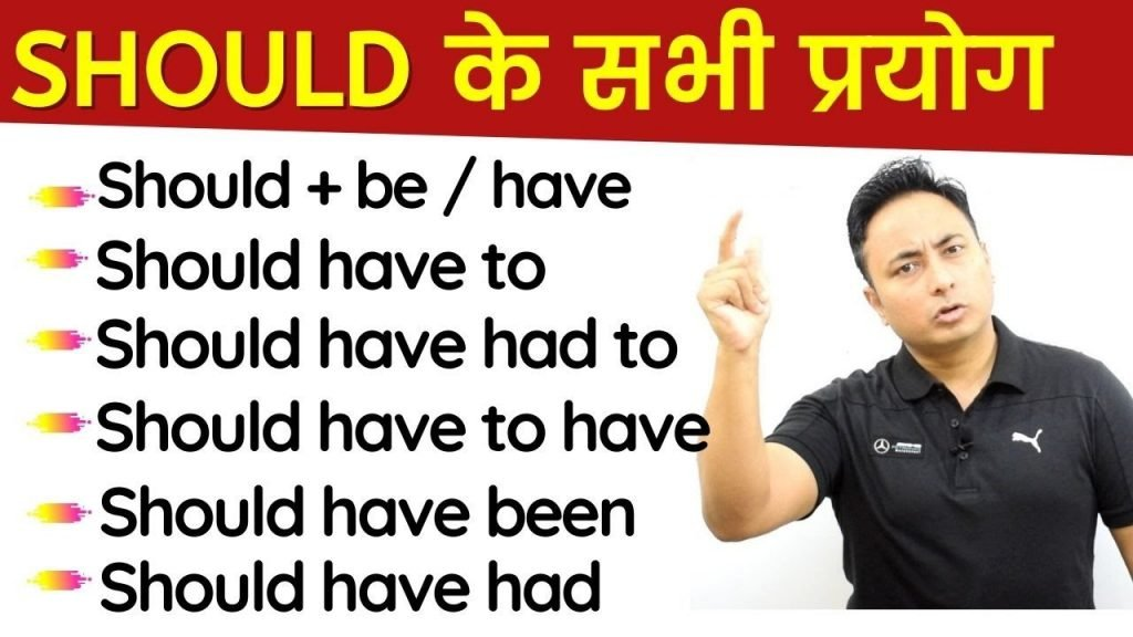 Use of Should in English